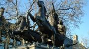 The statue of Boudica at Hyde Park Corner in London