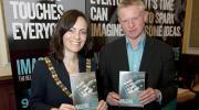 Peter O'Neill with Belfast Lord Mayor Nichola Mallon