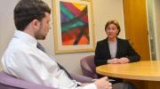 Sam McBride interviewing Valerie Watts