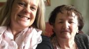 Volunteer Melissa and service user Patricia