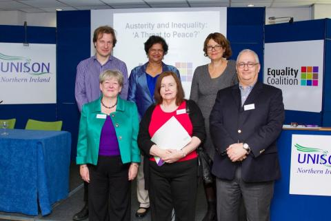 Panel members from the recent Equality Coalition's austerity and inequality event