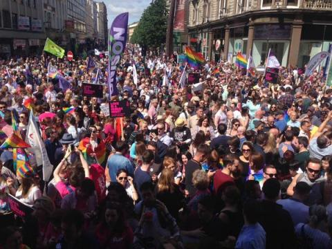 As many as 20,000 people turned out in Belfast last month to support marriage equality