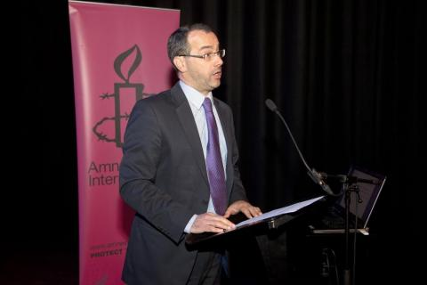 Patrick Corrigan from Amnesty International