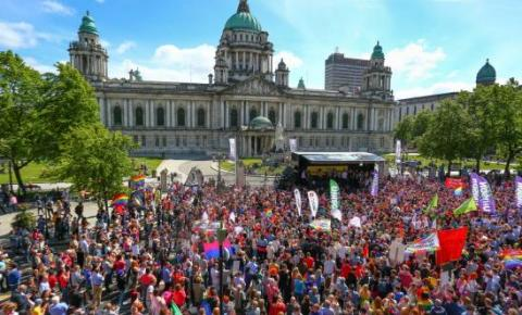 The recent marriage equality rally in Belfast