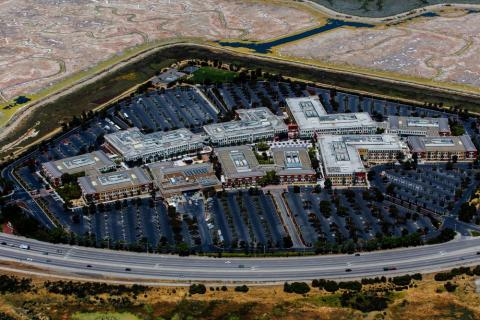 Facebook's giant campus in California