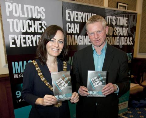 Peter O'Neill with Belfast Lord Mayor Nichola Mallon