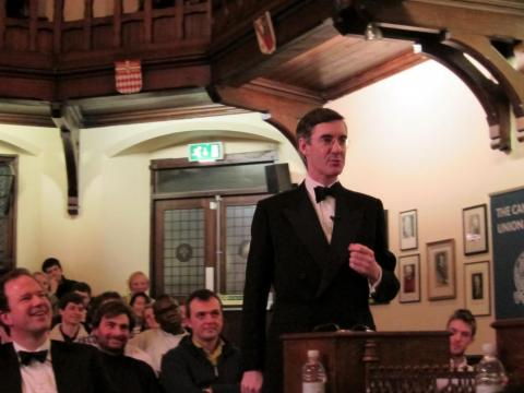 Jacob Rees-Mogg debating at the Cambridge Union