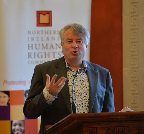 NI Human Rights Commissioner Les Allamby at the launch of the report at Stormont last month