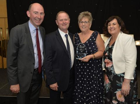 Kathleen Toner (far right) at the recent Foster Carer of the Year awarda