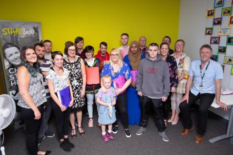Participants in Start360's Switch onto Employment, at the scheme's celebration last August