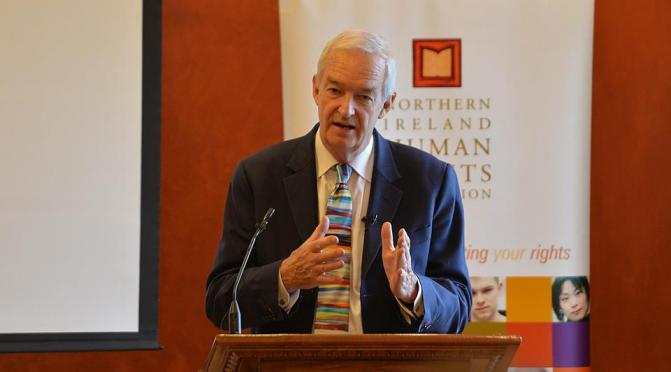 Jon Snow speaking this week at Stormont