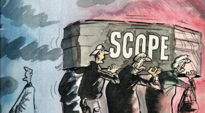 Scope magazine's final printed copy, March 2008