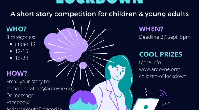 Ardoyne Youth Enterprise is running a writing competition for young people. There are many ways to get young people engaged with the world around them - and to have their voice heard.